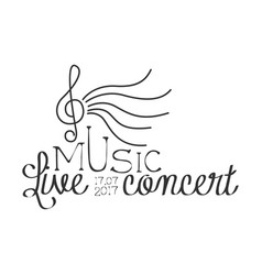 live music concert black and white poster with vector image vector image