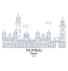 Mumbai city skyline vector