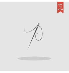 Needle icon Flat design style vector image