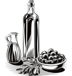 olives in a bowl vector image vector image