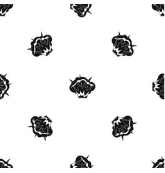 Projectile explosion pattern seamless black vector