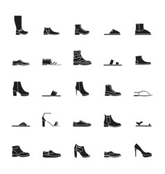 shoes set icons vector image