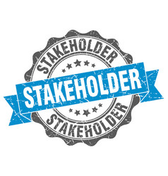 Stakeholder stamp sign seal vector