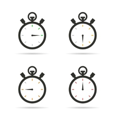 Stopwatch icons set vector image vector image