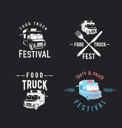 street food truck graphic vector image vector image