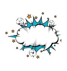 Talk bubble cartoon comic vector