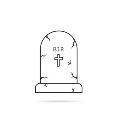 thin line simple tombstone vector image