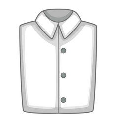 White folded shirt icon cartoon style vector
