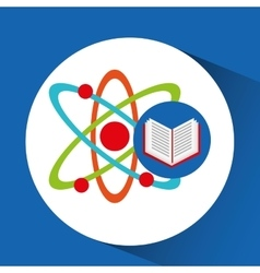 Book school open and atom vector