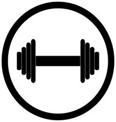 Dumbbell black icon vector