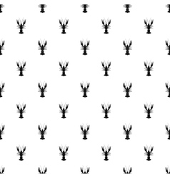 Crayfish pattern simple style vector