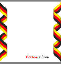 Colored ribbon with the german tricolor vector