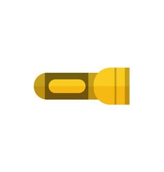 Tourist flashlight icon isolated vector