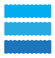 Blue banner ribbon icon on white background vector