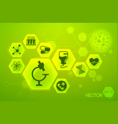 Medicine and science green poster vector