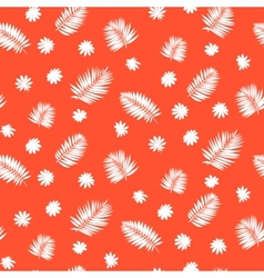 Pattern with palm leafs inspired by tropics nature vector