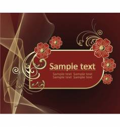 beautiful background with gold pattern vector image