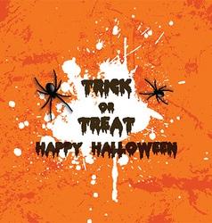 grunge halloween spider background 2708 vector image