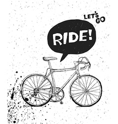 bicycle poster bw vector image
