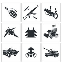 Armament icon set vector