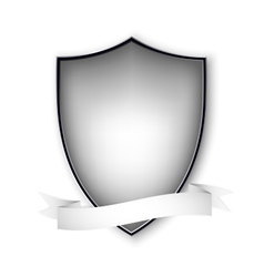 Empty isolated metal shield on white format vector
