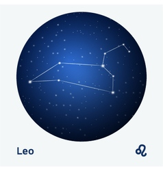 Leo constellation vector