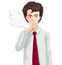A man smoking vector