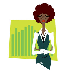 african business woman vector image