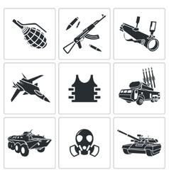 Armament icon set vector