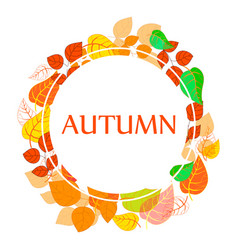 Autumn abstract floral background - circle from vector