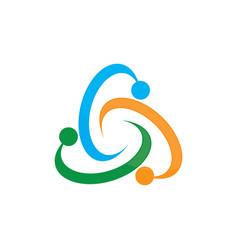 Circle colored abstract logo image vector