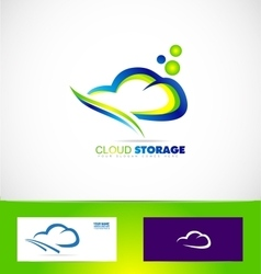 Cloud computing storage data logo icon vector