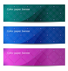 Color paper banners vector image