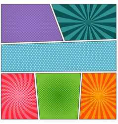 colorful comic book background vector image