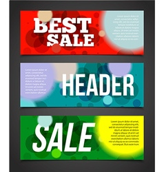 Confetti banner or offer design template Banner vector image