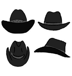 cowboy hat template vector image vector image
