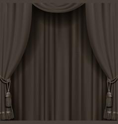 curtain in dark vintage colors vector image vector image