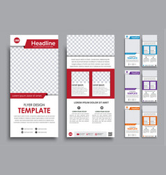 design white flyers narrow in 4 color options vector image vector image