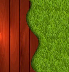 eco design - freshness spring green grass and vector image