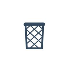 flat icon wastebasket element vector image