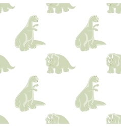 Funny dinosaur seamless background vector