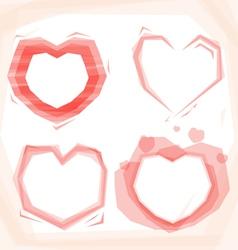 Heart frame set vector image