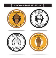 ice cream premium emblem vector image