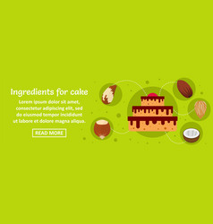 ingredients for cake banner horizontal concept vector image