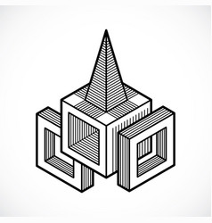Isometric abstract shape vector