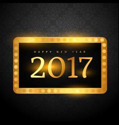 Luxury premium style 2017 happy new year vector
