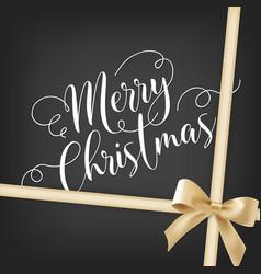 Merry christmas handwriting script lettering vector
