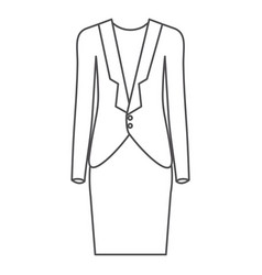 Monochrome silhouette of female formal suit vector