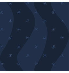 Night winter seamless pattern snowflakes seamless vector image
