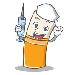 nurse cigarette character cartoon style vector image